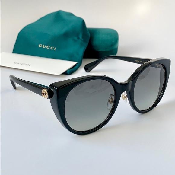 01e9f36fa2 Gucci Sunglasses Cat Eye GG0369S-001 Black  Grey